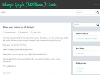 screenshot_of_Memorial_Site_for_Sharyn_Gayle_Williams_Davis