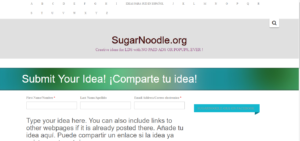 Screenshot of SugarNoodle website