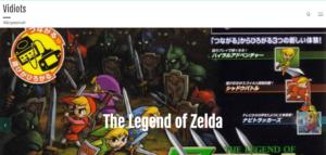 Screenshot of Vidiots website