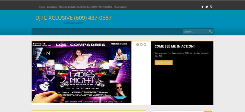 Screenshot of DJ IC Xclusive website